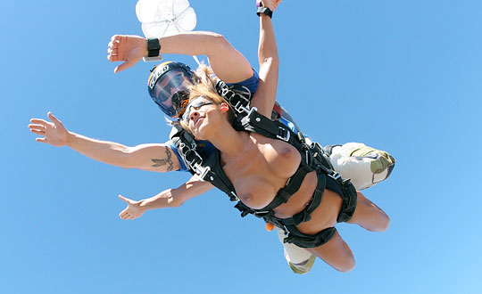 naked skydiving by playboyplus