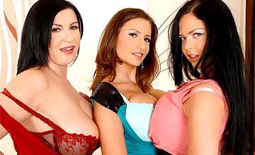 Threesome Kora, Shione Cooper and Sensual Jane