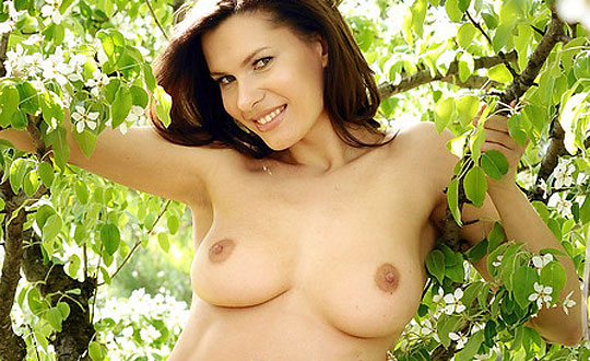 Suzanna - Under the cherry tree  by MPLstudios