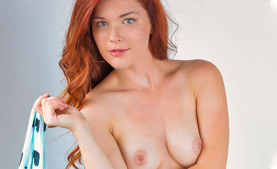 Mia Sollis - Classic Red MiaSollis by MetArt